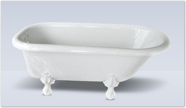 Matthew 60 Acrylic Roll Top Clawfoot Tub Shown As White With Ball Claw Feet