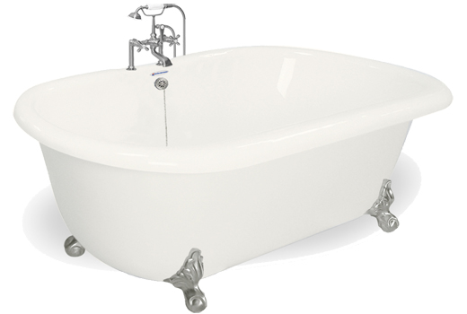clawfoot tub with jets. Dual Ended Clawfoot Bath Tub 70 Inch Celine Jetted Tubs  Whirlpool Air Injection and