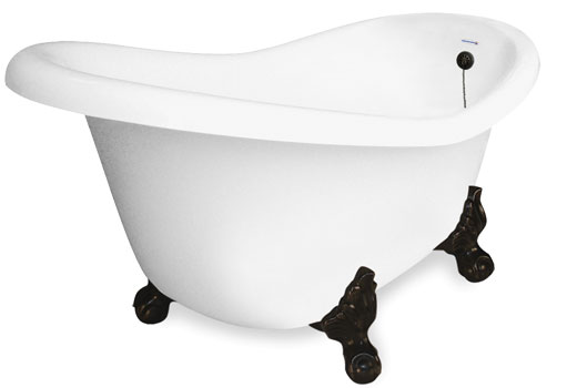 Jetted clawfoot tubs Copper Jetted Clawfoot Slipper Tub The Bath Spot Jetted Clawfoot Tubs Whirlpool Air Bath Air Injection And