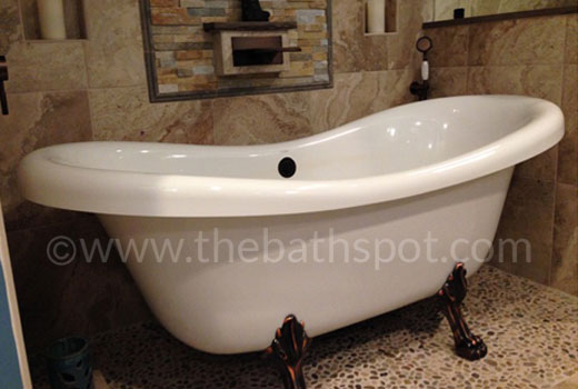 Air Jetted Double Slipper Clawfoot Tub Julius 72 Inch