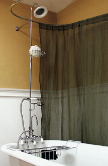 Add Shower To Clawfoot Tub. Shower Enclosures at The Bath Spot Clawfoot  Tub Bathroom