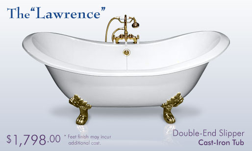 The Lawrence   Double Slipper End Cast Iron Tub